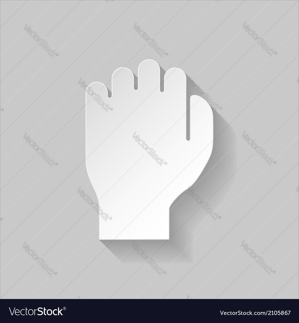Paper fist vector   Price: 1 Credit (USD $1)