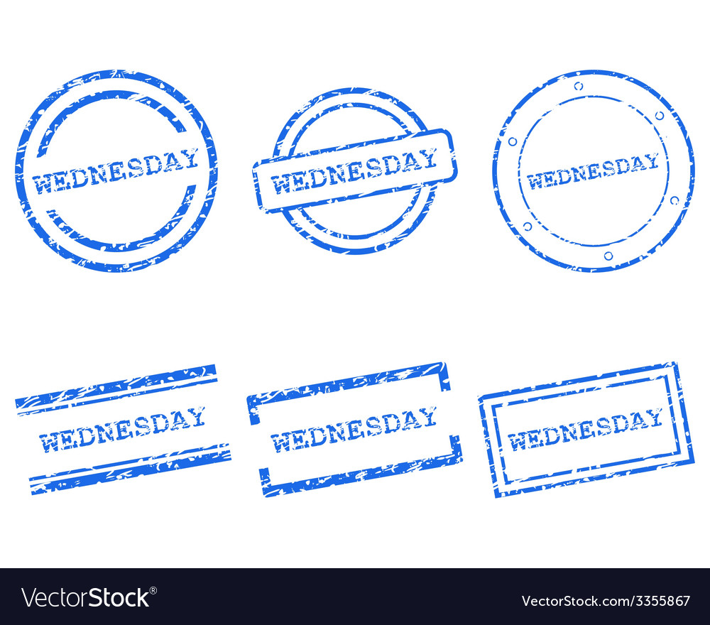 Wednesday stamps vector | Price: 1 Credit (USD $1)