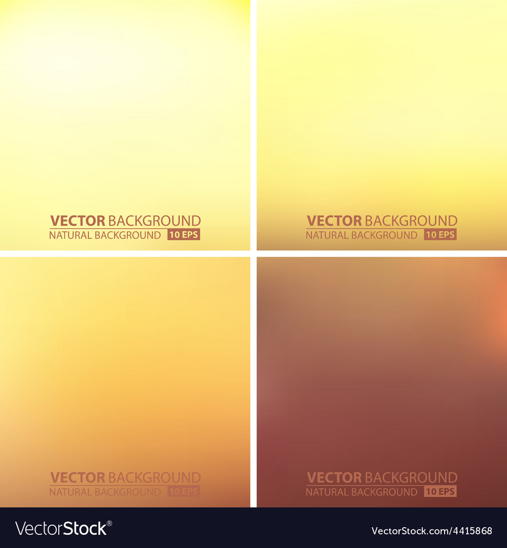 Abstract smooth blurred backgrounds set vector | Price: 1 Credit (USD $1)
