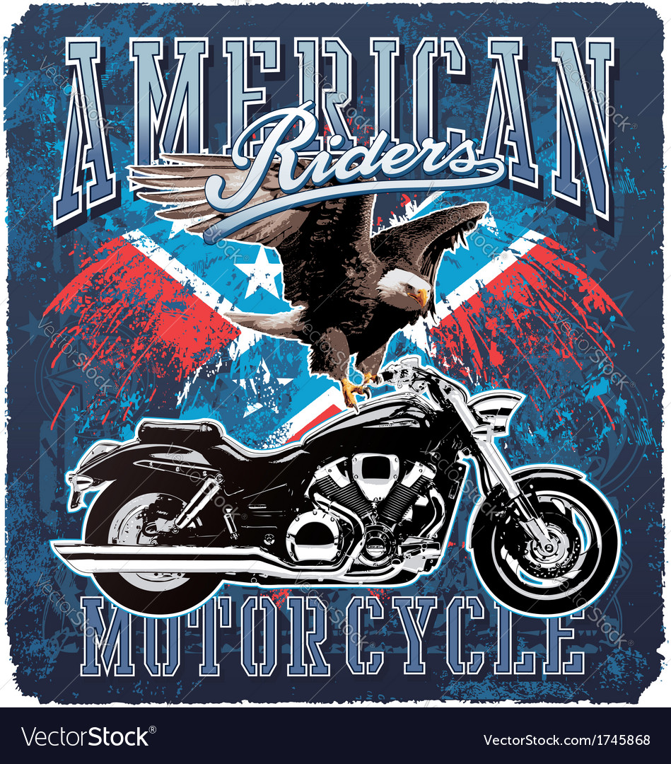 American motorcycle rider vector | Price: 5 Credit (USD $5)