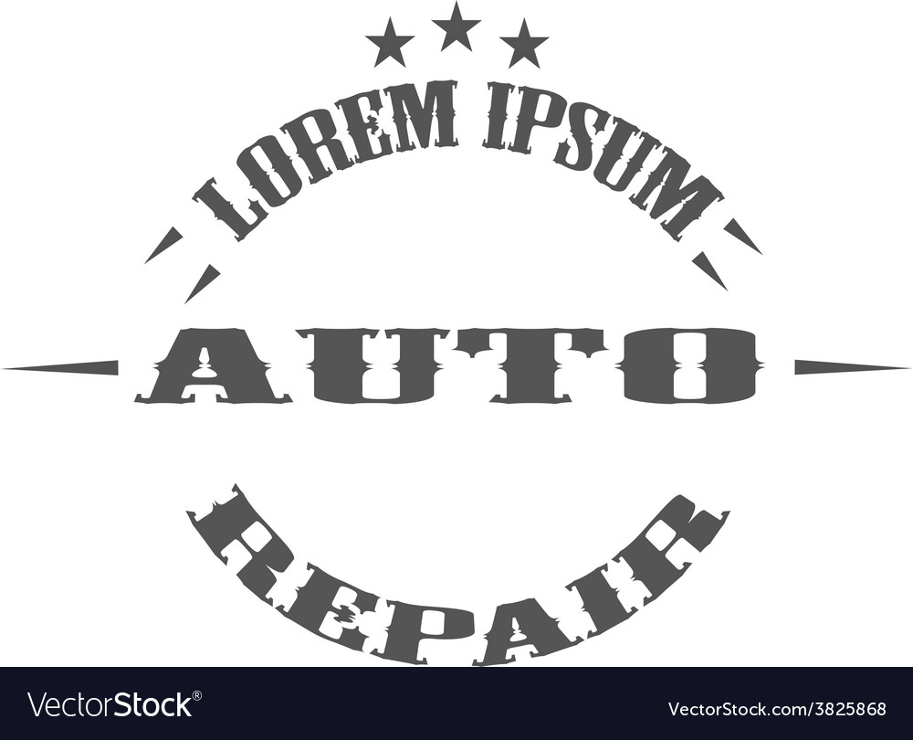 Auto repair garage logos and pictures vector | Price: 1 Credit (USD $1)