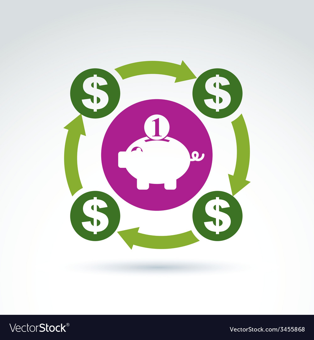 Banking symbol financial system icon personal vector   Price: 1 Credit (USD $1)