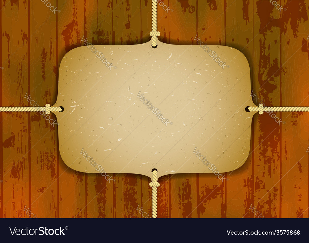 Cardboard frame on the ropes vector | Price: 1 Credit (USD $1)
