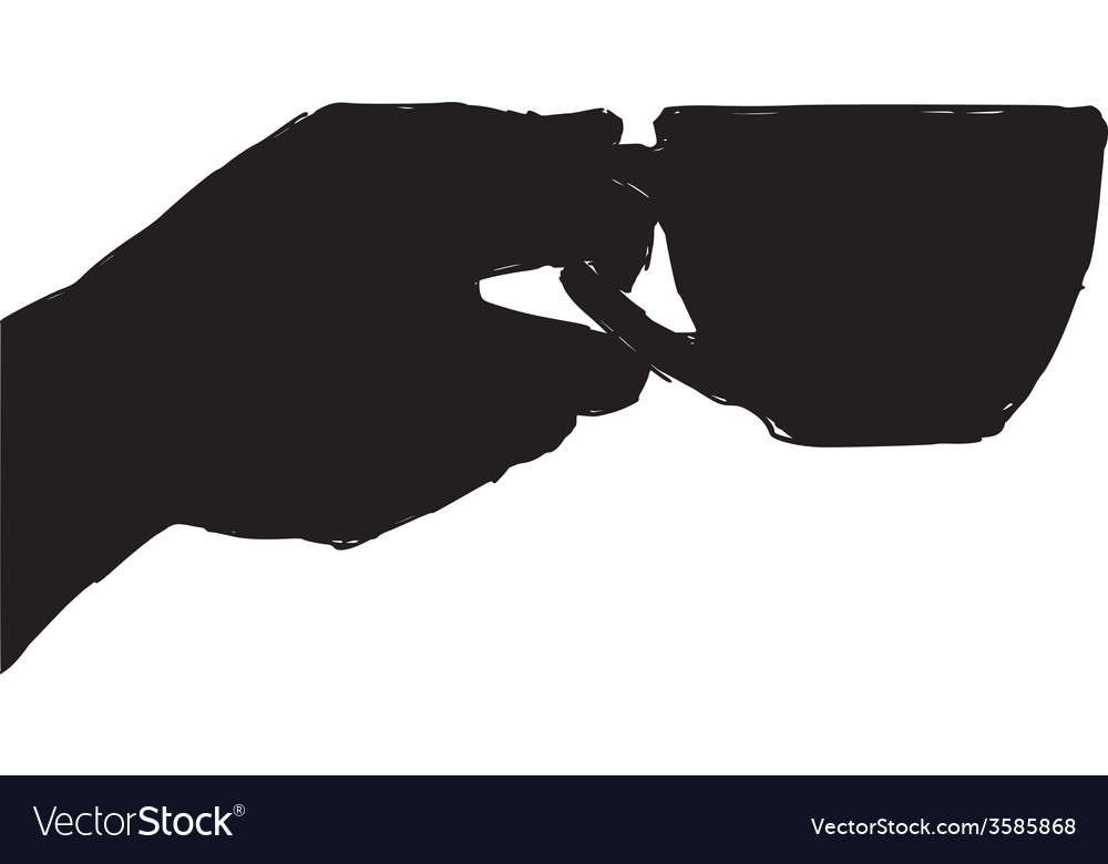 Hand with cup vector | Price: 1 Credit (USD $1)