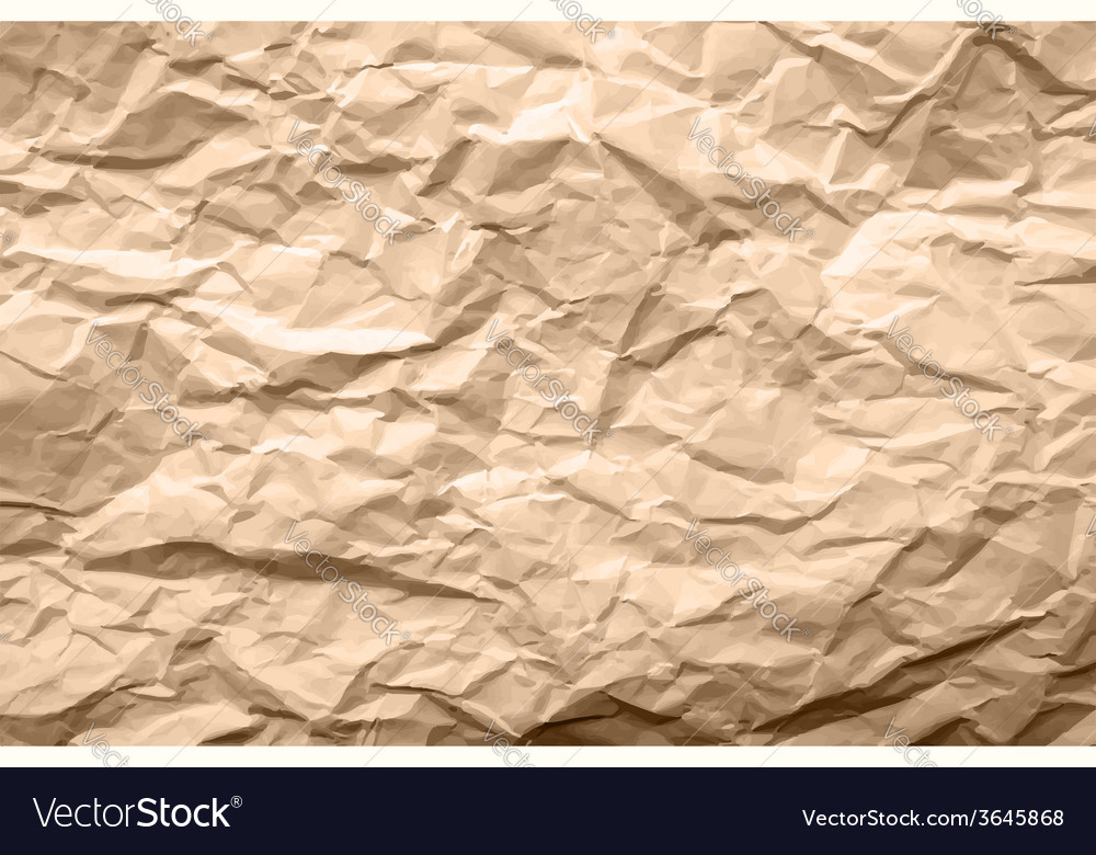 Light brown texture of crumpled paper vector | Price: 1 Credit (USD $1)