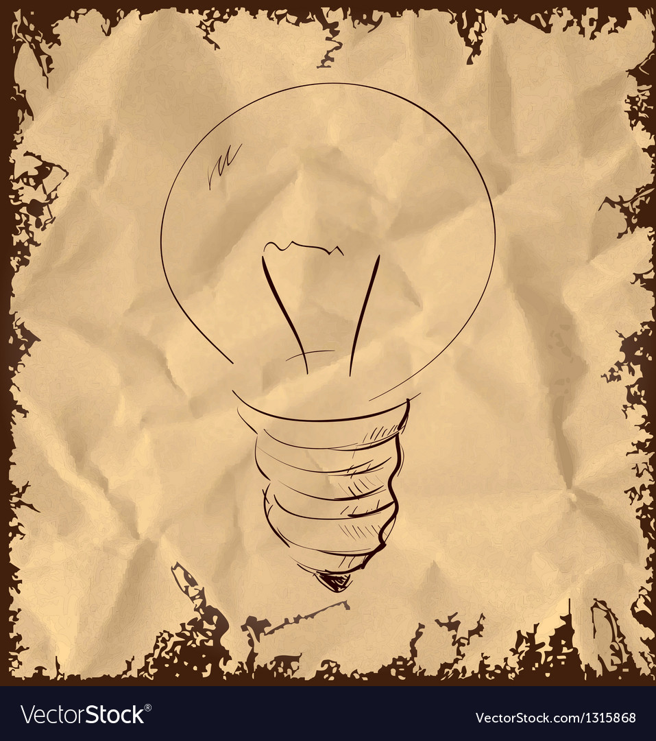 Old light bulb icon on vintage background vector | Price: 1 Credit (USD $1)