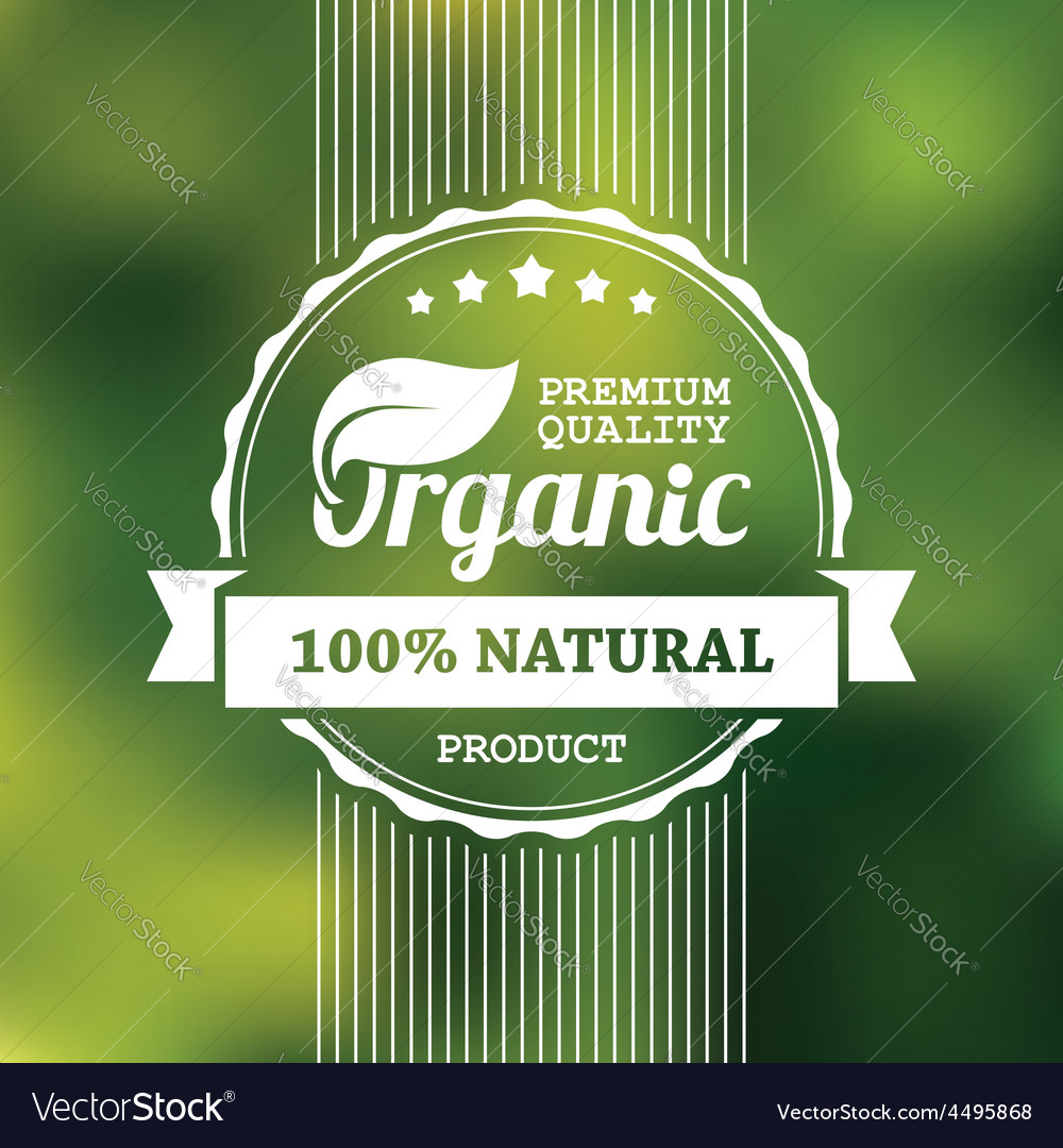 Organic product banner vector