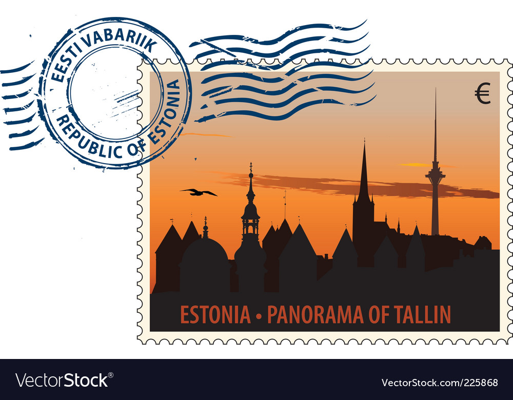 Postmark from estonia vector | Price: 1 Credit (USD $1)