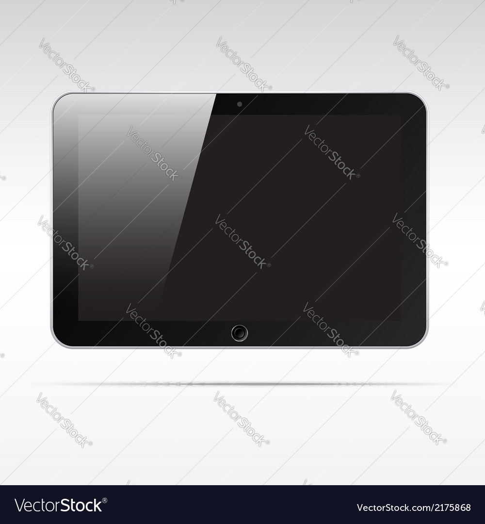 Realistic tablet isolated on light background vector | Price: 1 Credit (USD $1)