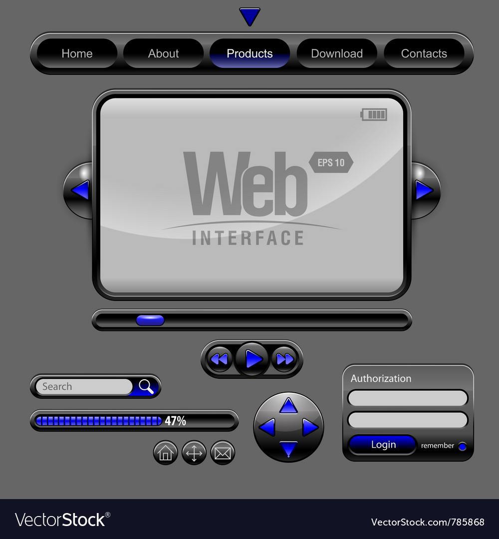 Web ui elements vector | Price: 1 Credit (USD $1)