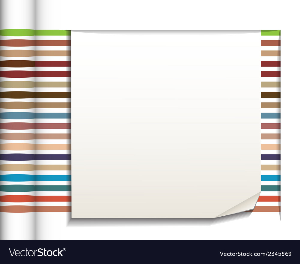 Abstract straight lines with white paper vector | Price: 1 Credit (USD $1)