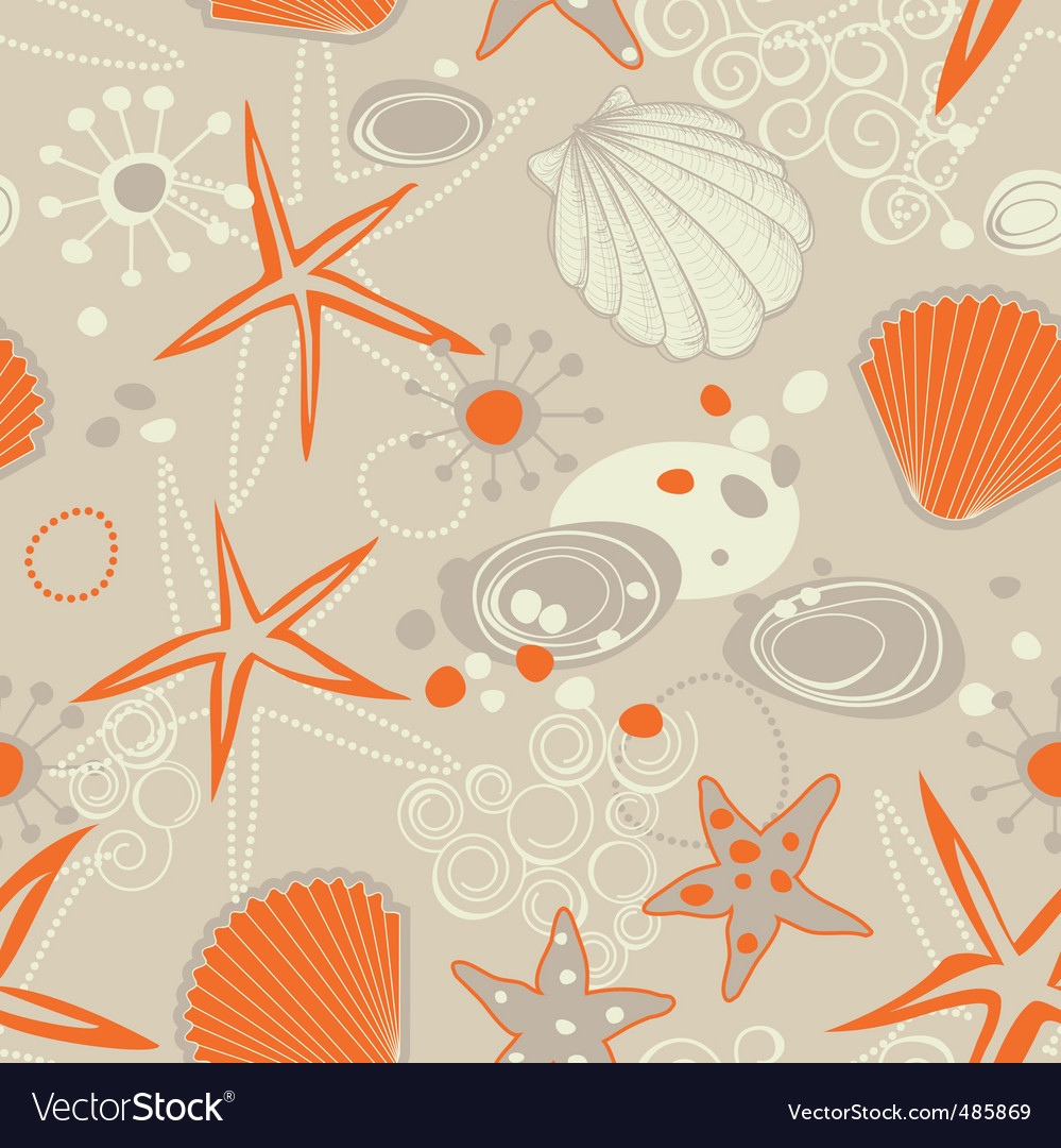 Beach seamless pattern vector | Price: 1 Credit (USD $1)