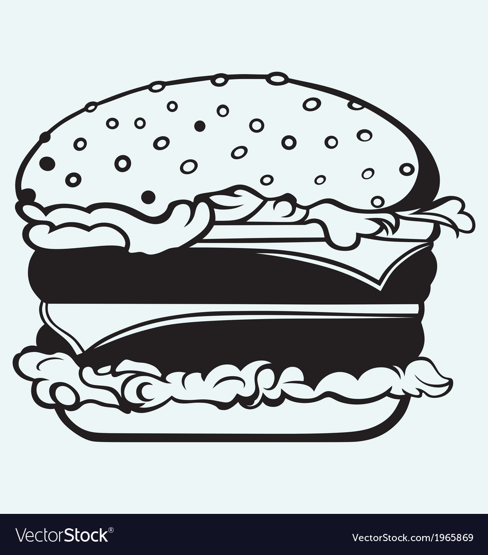 Big and tasty hamburger vector | Price: 1 Credit (USD $1)