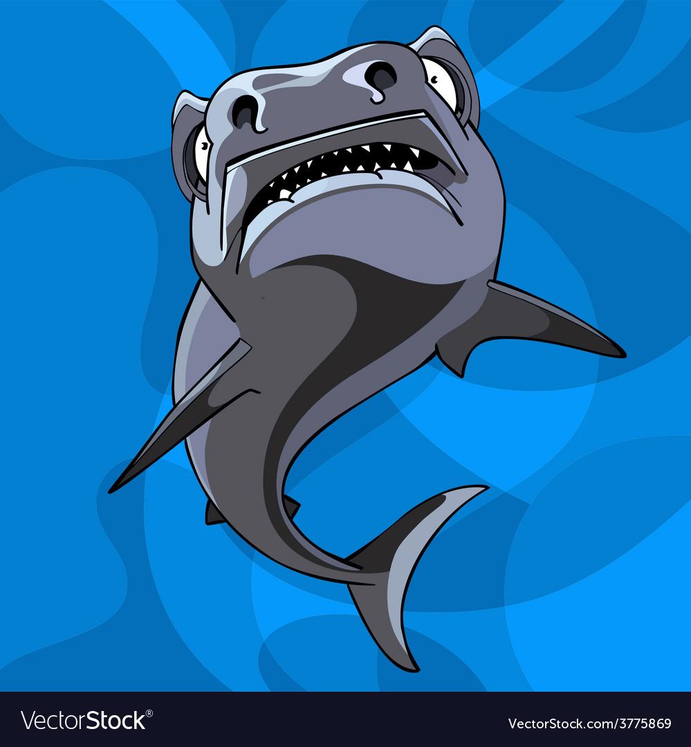 Cartoon shark underwater vector   Price: 3 Credit (USD $3)