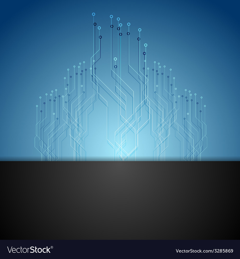 Dark blue circuit board tech background vector | Price: 1 Credit (USD $1)