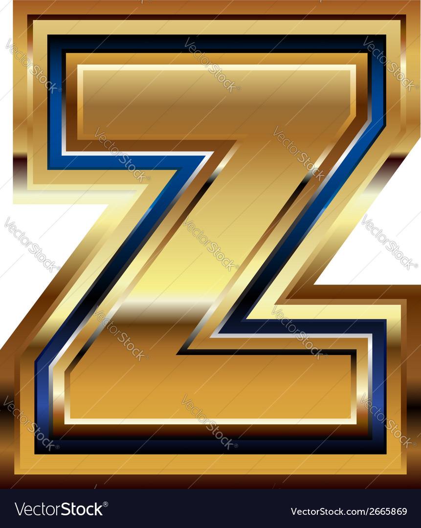 Golden font letter z vector | Price: 1 Credit (USD $1)