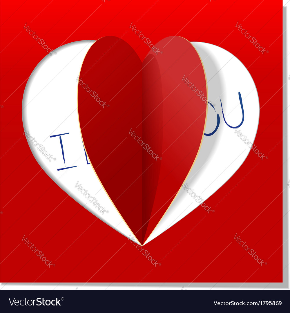 Heart love message vector | Price: 1 Credit (USD $1)