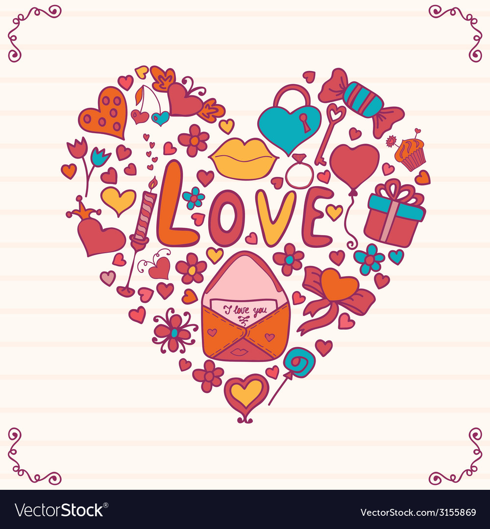 Heart shape vector | Price: 1 Credit (USD $1)