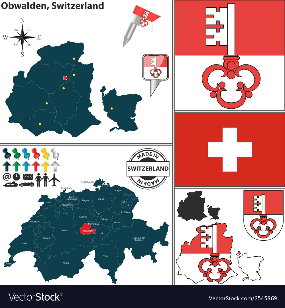 Map of obwalden vector   Price: 1 Credit (USD $1)
