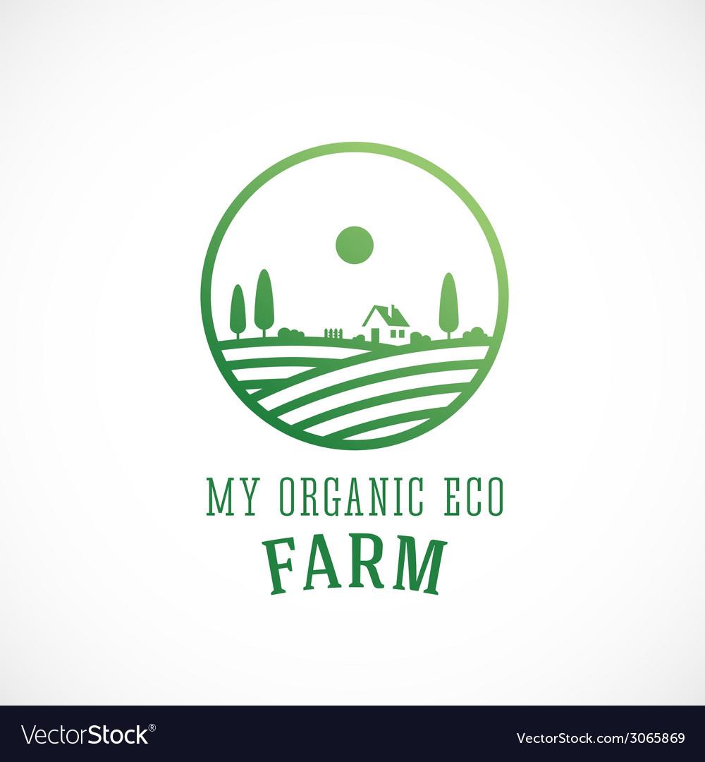 Organic farm abstract logo template vector | Price: 1 Credit (USD $1)