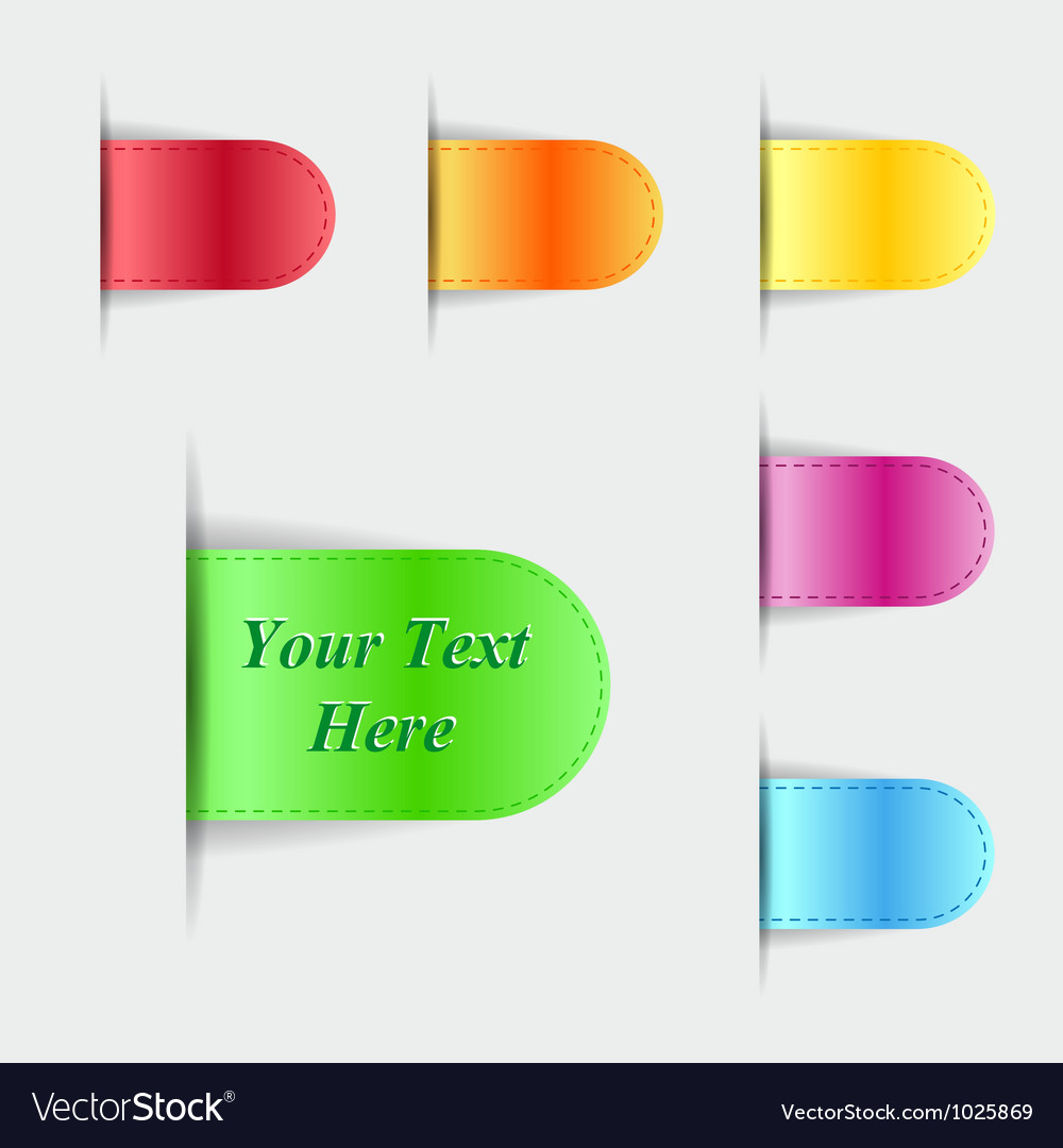 Set of colorful glossy labels vector | Price: 1 Credit (USD $1)