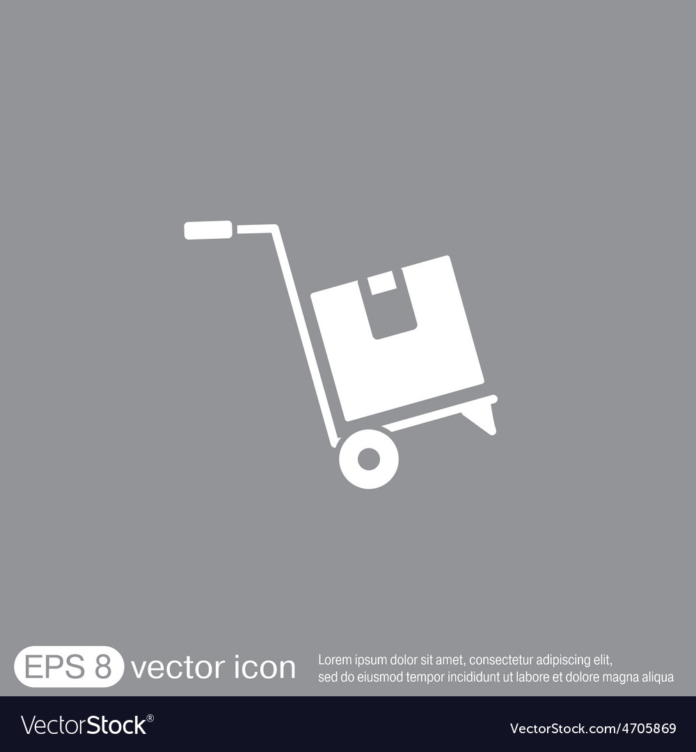 Truck with box logistic icon vector | Price: 1 Credit (USD $1)
