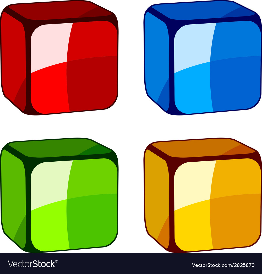 Abstract glass cubes vector | Price: 1 Credit (USD $1)