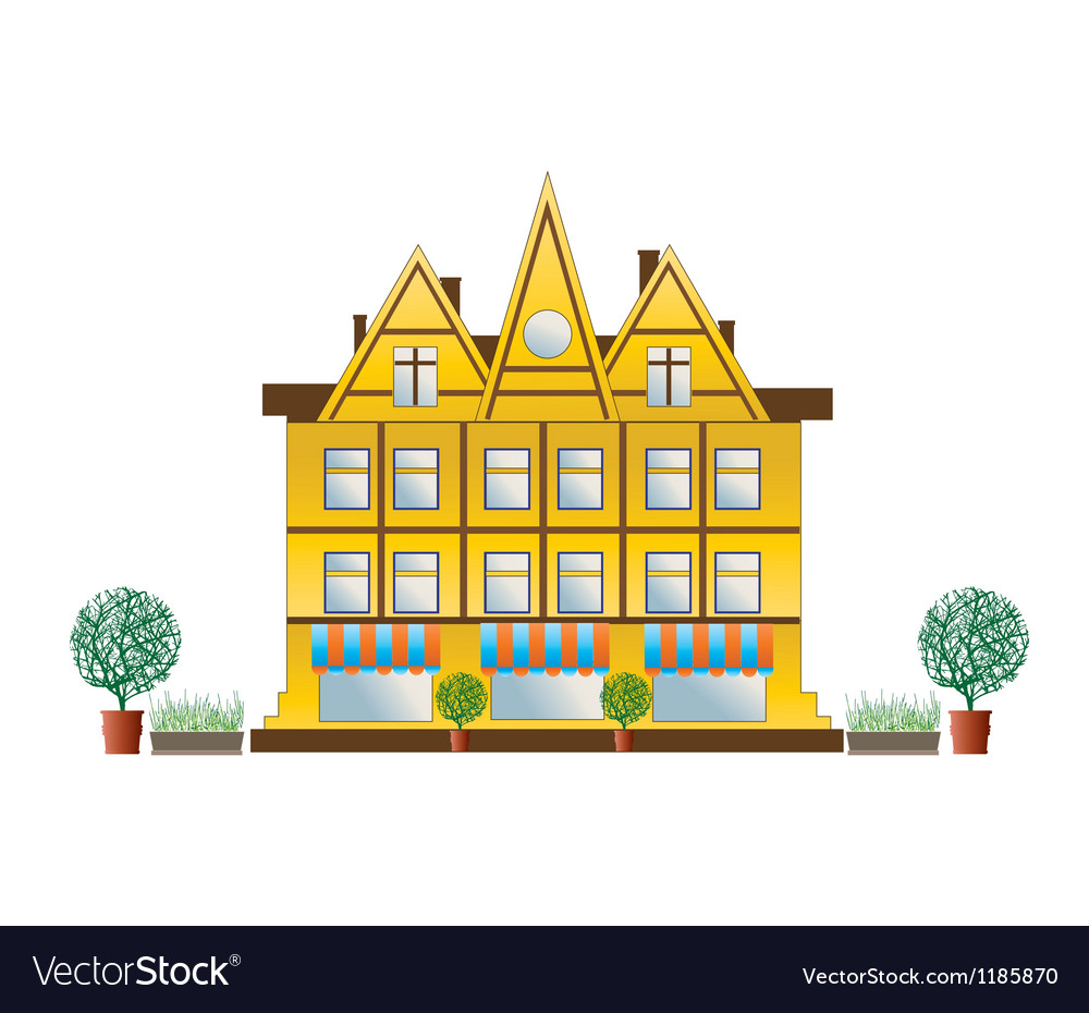 City house vector | Price: 3 Credit (USD $3)