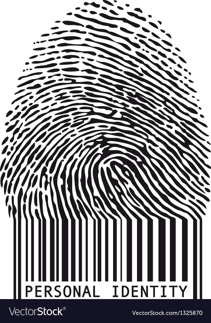 Fingerprint with bar code vector | Price: 1 Credit (USD $1)