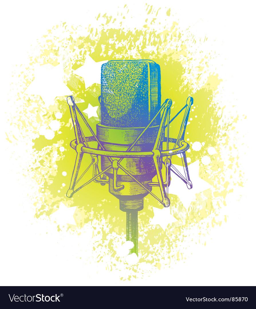 Hand drawn studio microphone vector   Price: 1 Credit (USD $1)