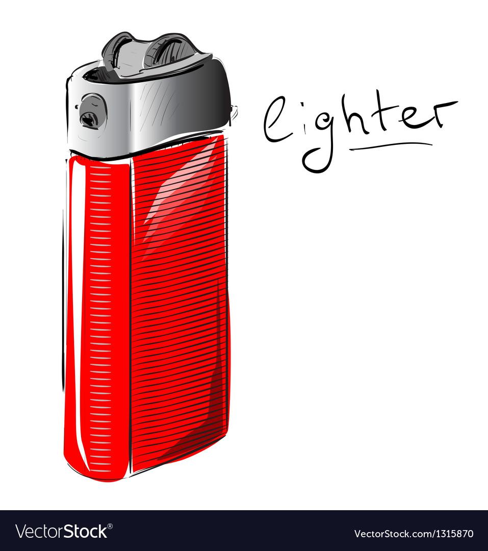 Lighter cartoon sketch vector | Price: 3 Credit (USD $3)
