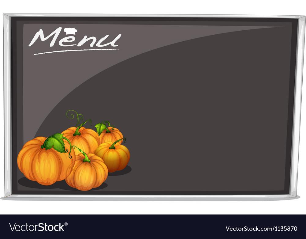 Menu on black board vector | Price: 1 Credit (USD $1)