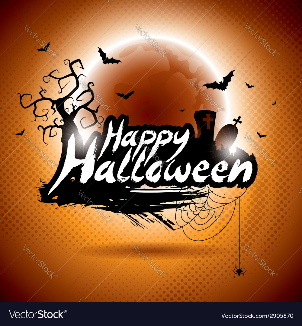 On a happy halloween theme vector | Price: 3 Credit (USD $3)