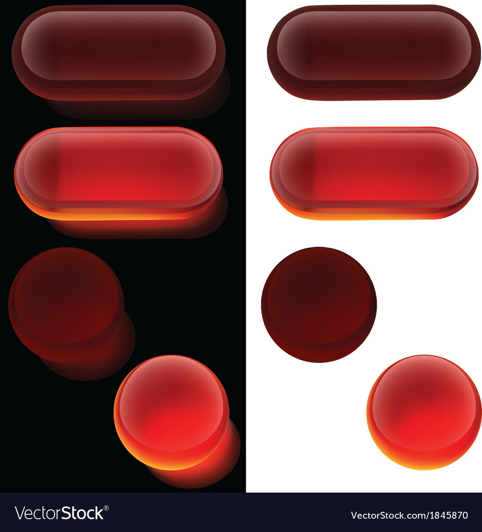 Red glass buttons vector | Price: 1 Credit (USD $1)