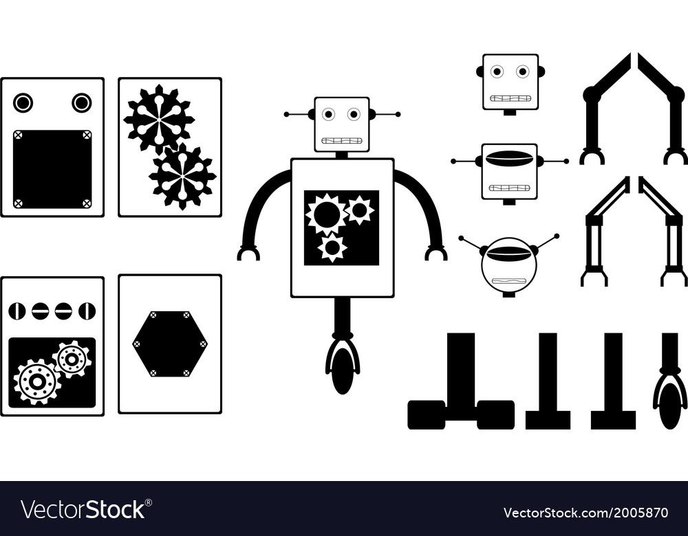 Robot parts vector | Price: 1 Credit (USD $1)