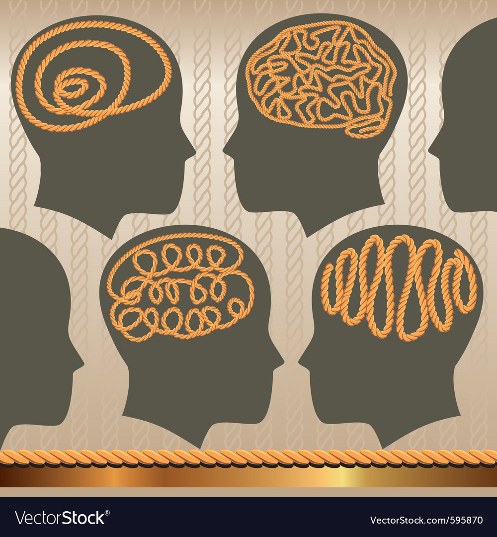 Rope of brain vector | Price: 3 Credit (USD $3)