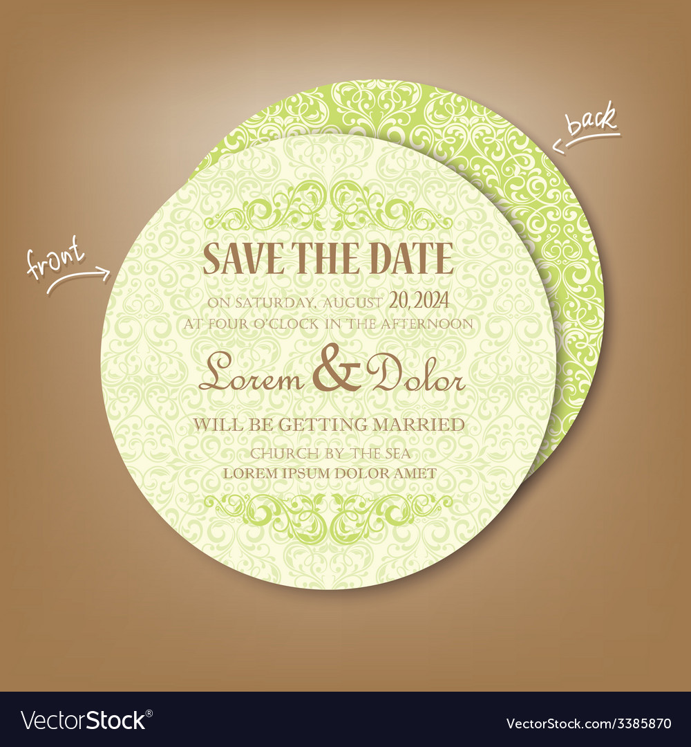 Round save the date vector | Price: 1 Credit (USD $1)
