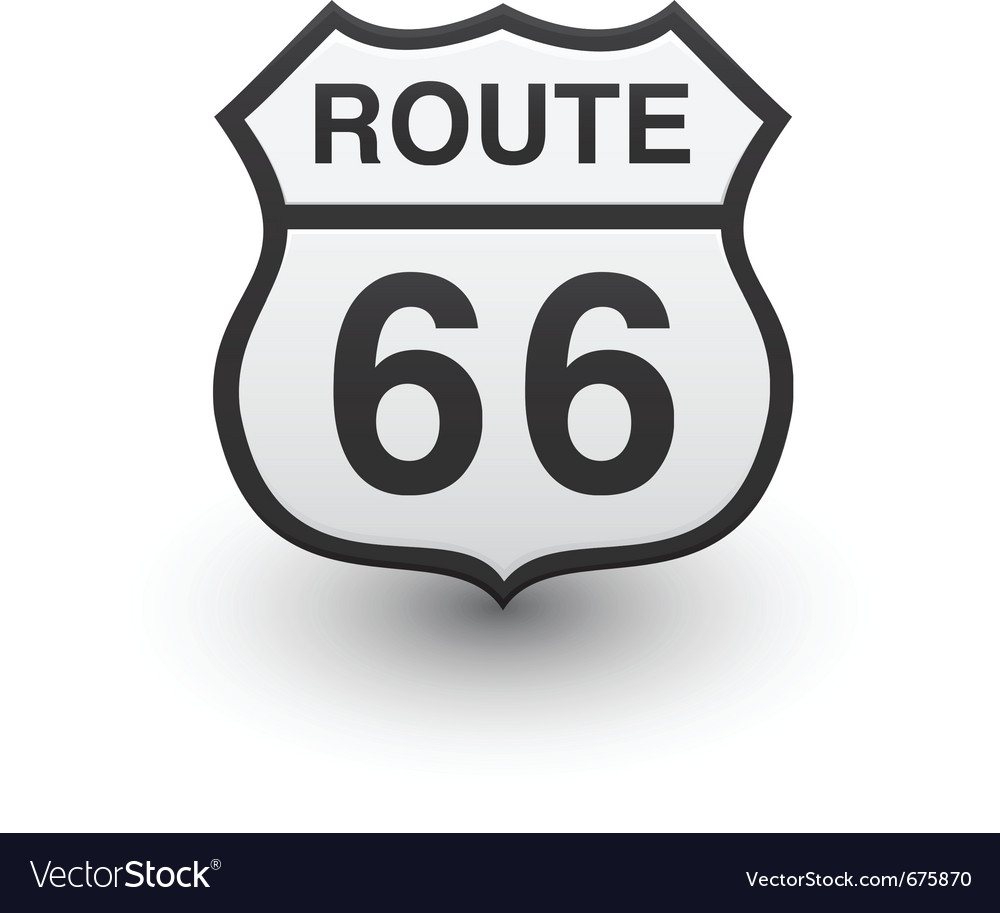 Route 66 icon vector | Price: 1 Credit (USD $1)