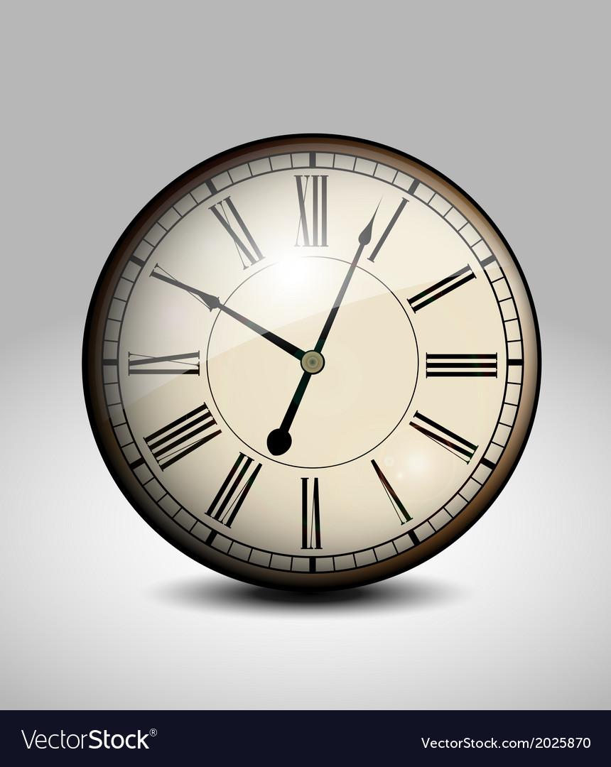 Vintage clock vector   Price: 1 Credit (USD $1)