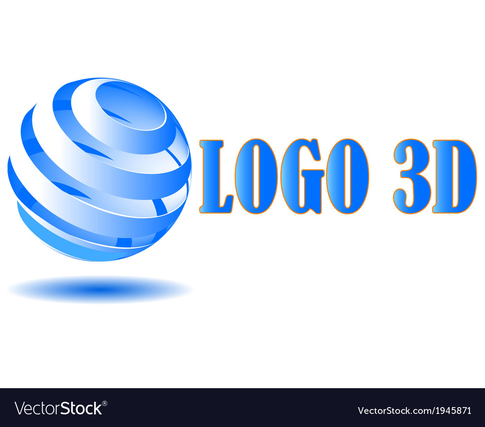 3d logo vector | Price: 1 Credit (USD $1)