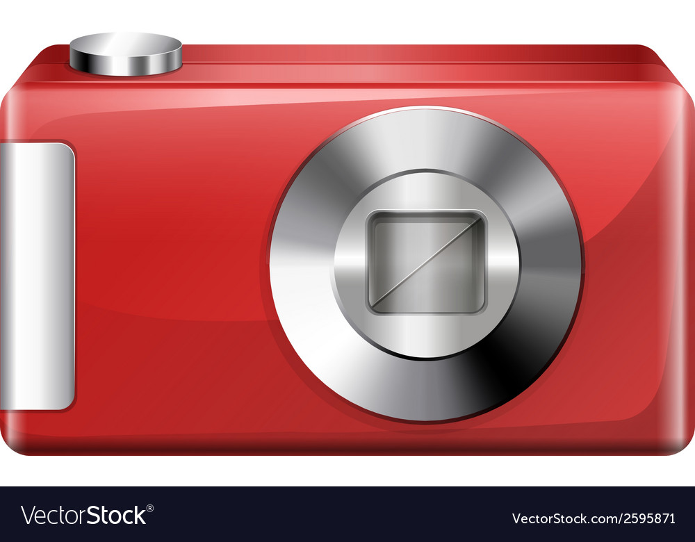 A red digital camera vector | Price: 1 Credit (USD $1)