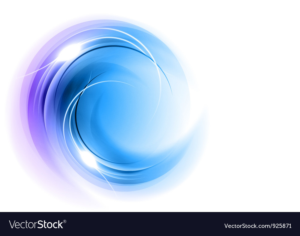 Abstract circle smoke on white blue vector | Price: 1 Credit (USD $1)