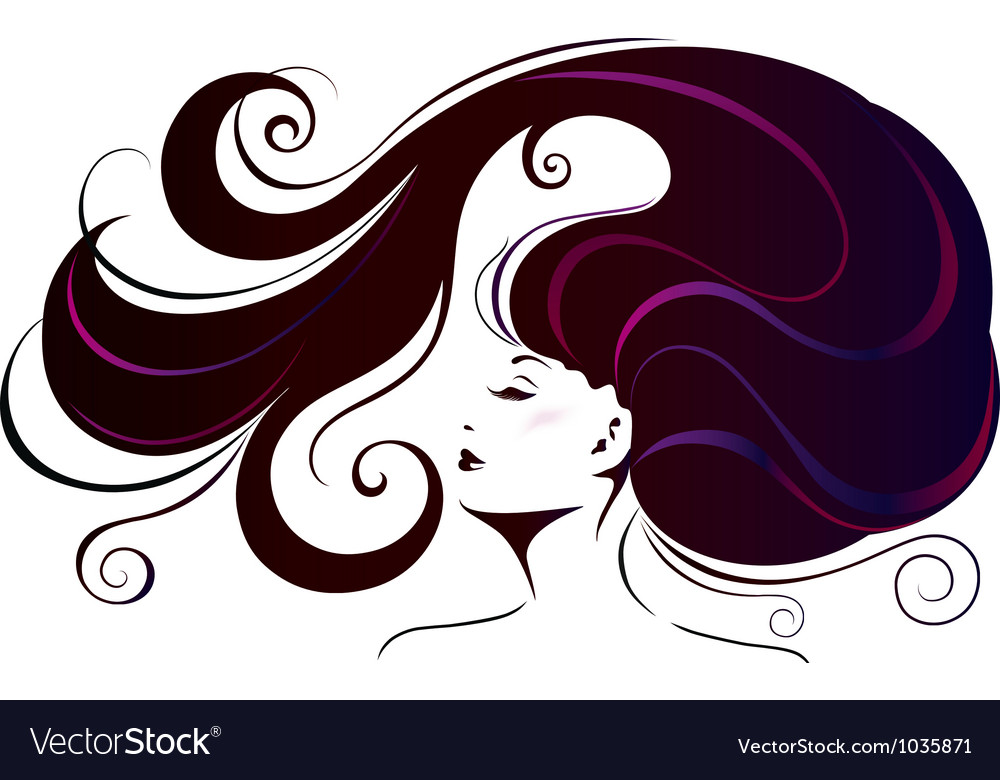 Beautiful young woman vector | Price: 1 Credit (USD $1)