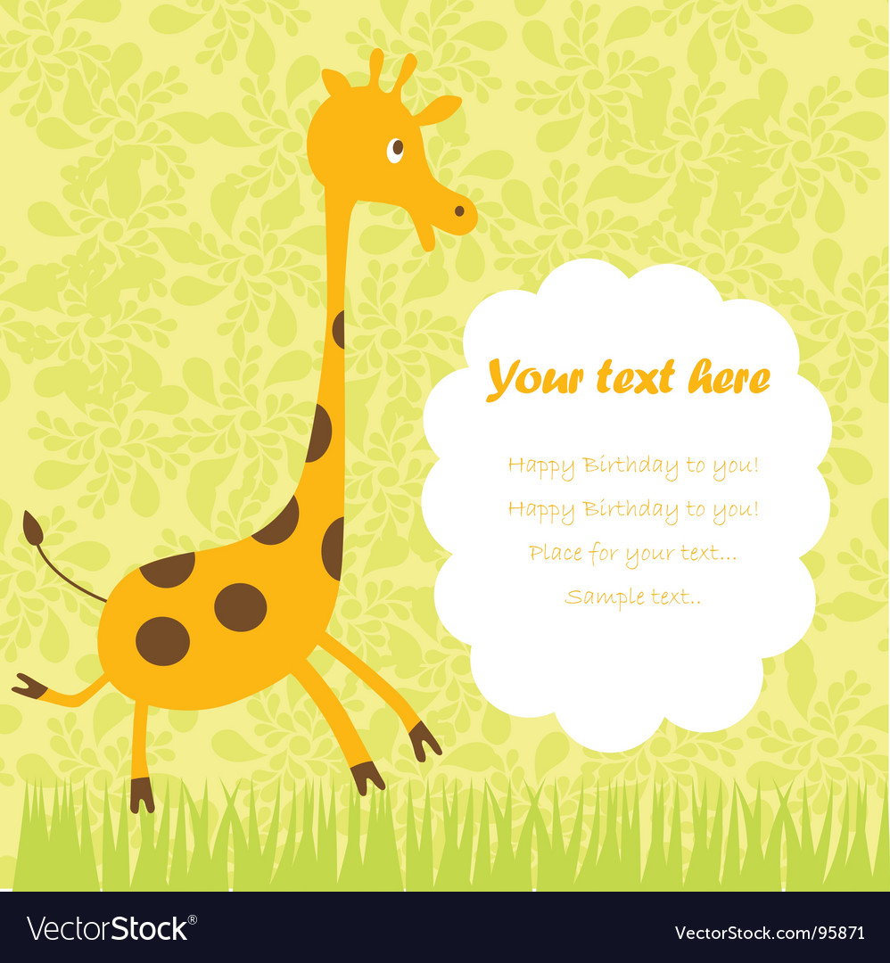 Child greeting card vector | Price: 1 Credit (USD $1)
