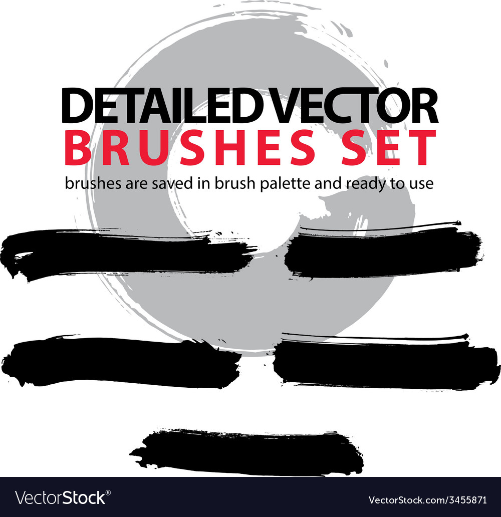 Collection of ink hand drawn brushes scanned and vector   Price: 1 Credit (USD $1)