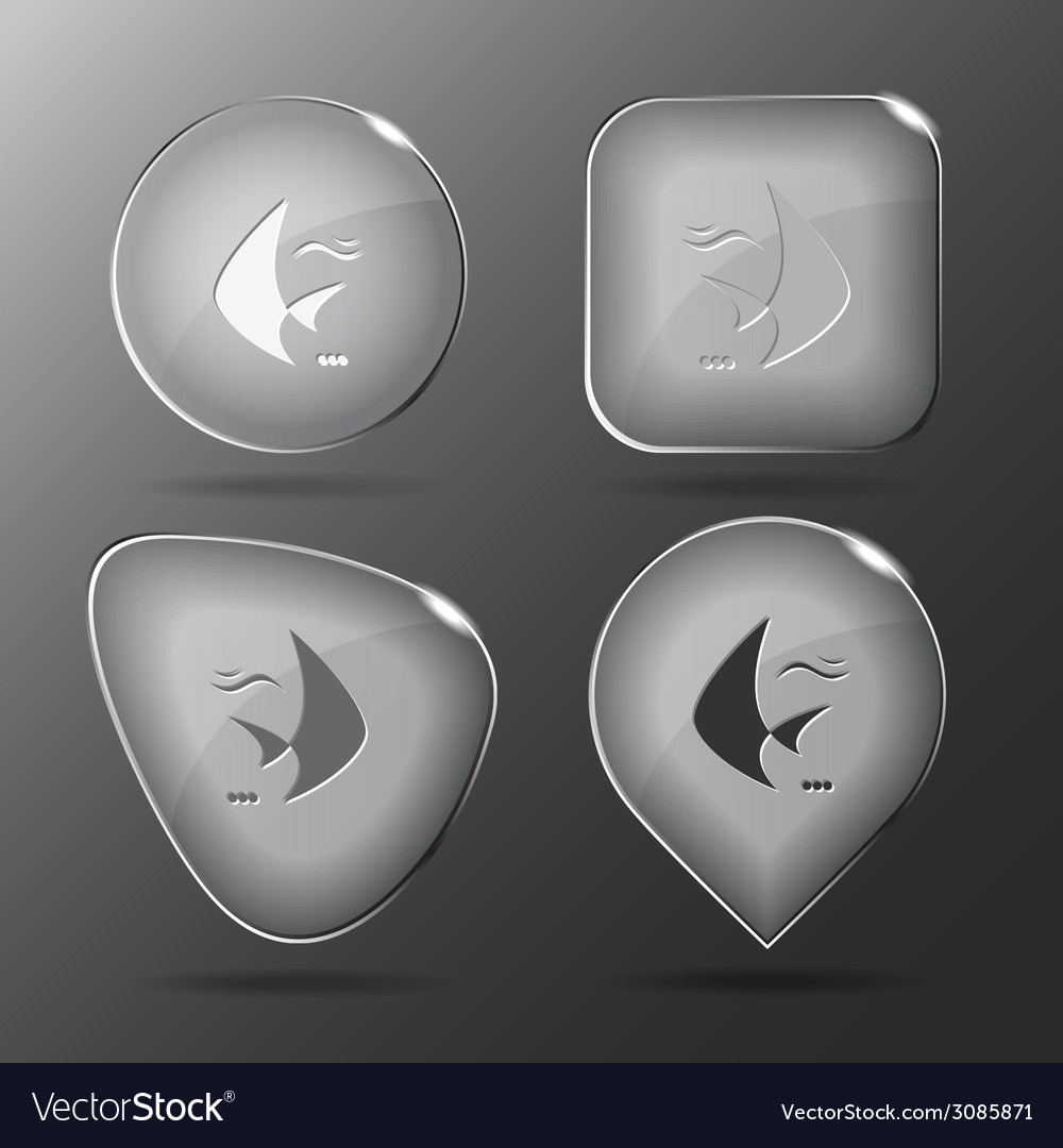 Fish glass buttons vector | Price: 1 Credit (USD $1)