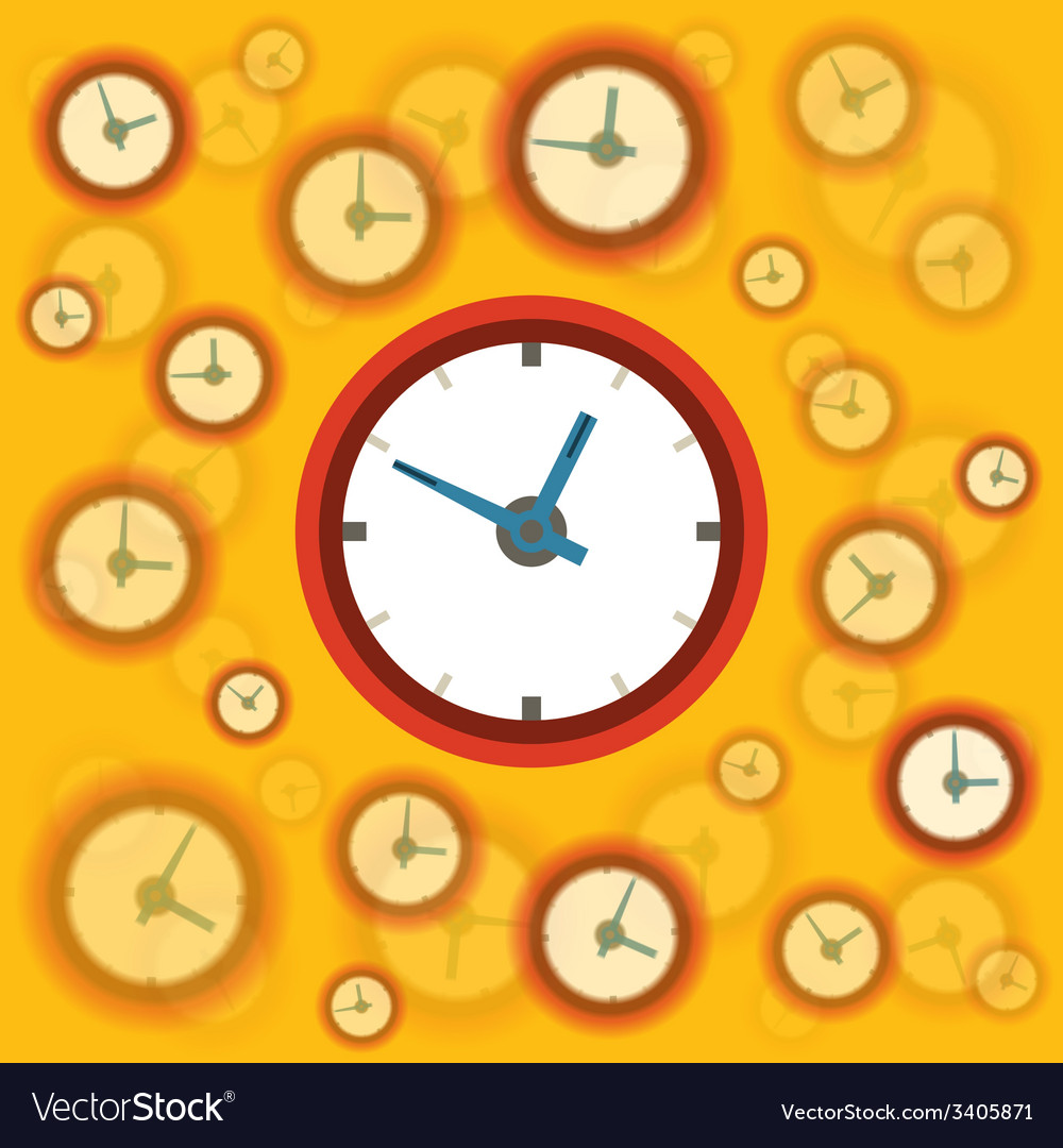 Flat clock background vector   Price: 1 Credit (USD $1)