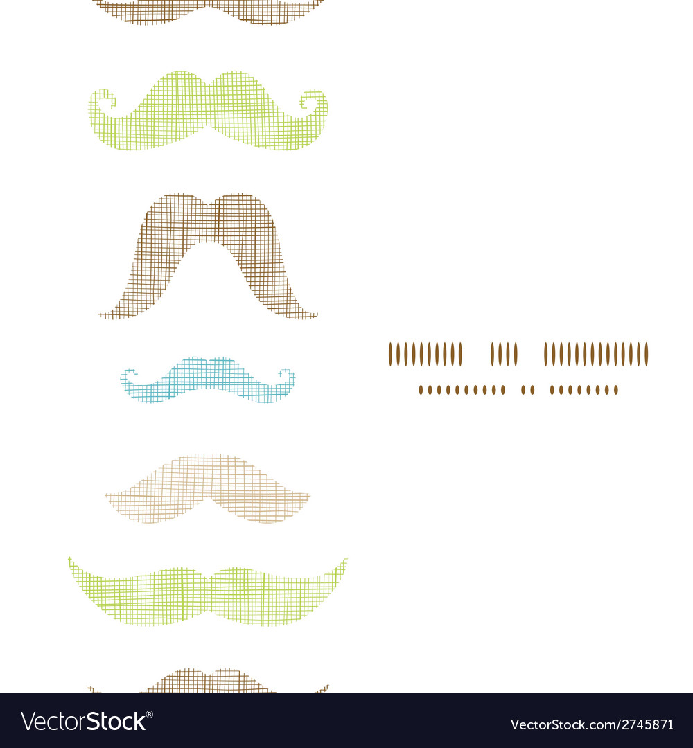 Fun silhouette mustaches vertical frame seamless vector | Price: 1 Credit (USD $1)