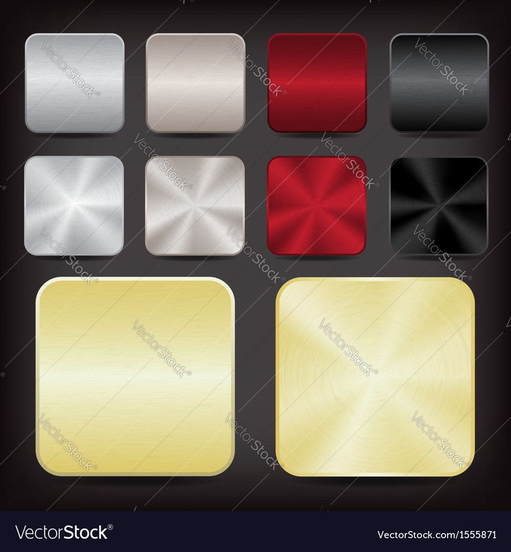 Metallic app icons vector | Price: 1 Credit (USD $1)