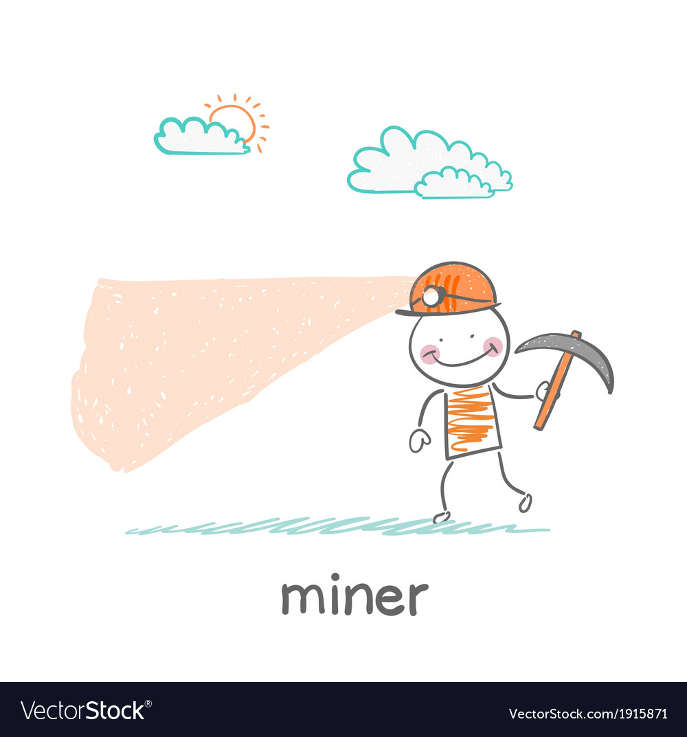 Miner looking minetaly vector | Price: 1 Credit (USD $1)